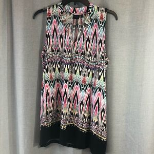 Like new Rafaella Ikat print tunic top